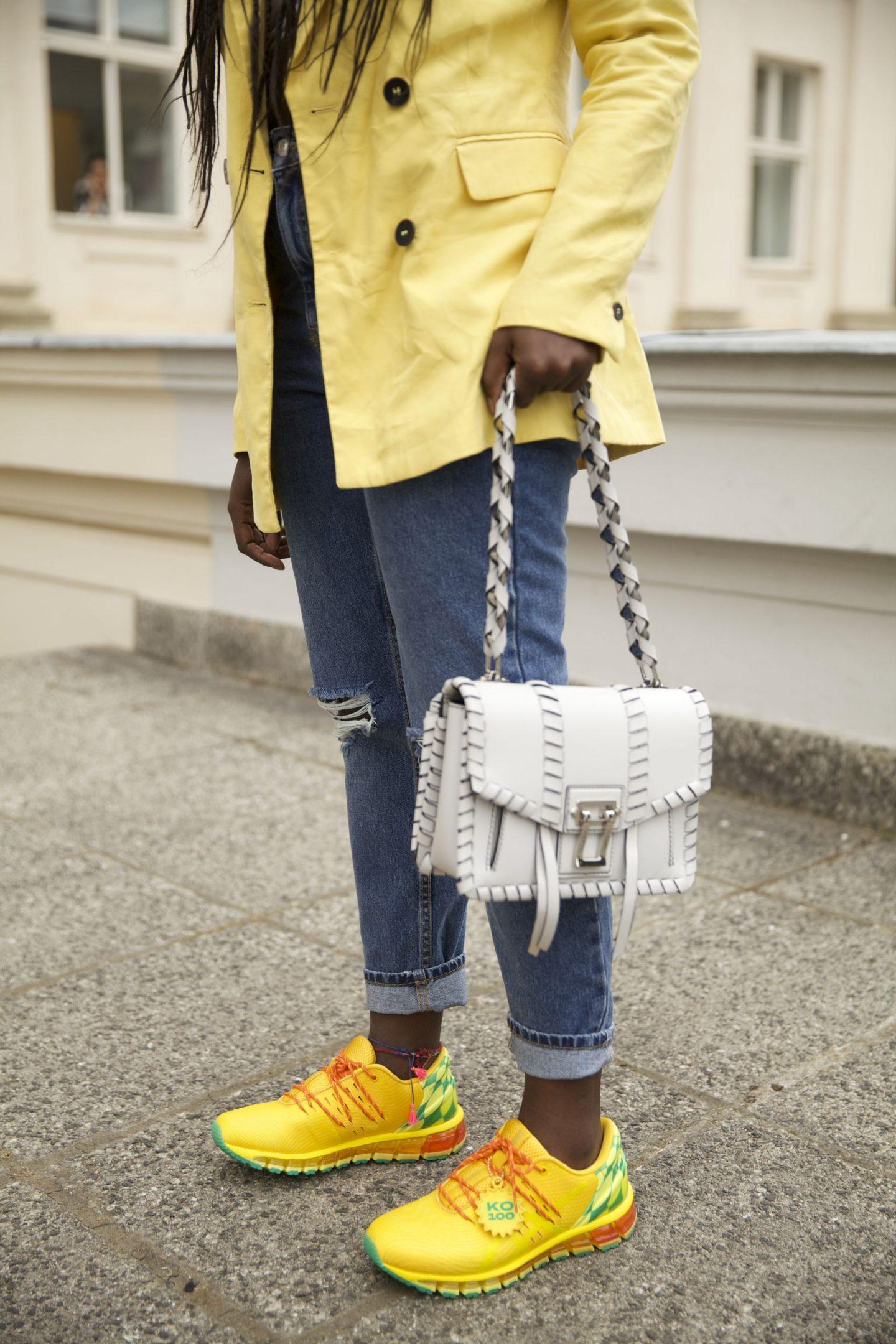 Asics gel ko100 sunflower edition lois opoku proenza schouler hava whipstitch bag street style lisforlois_5