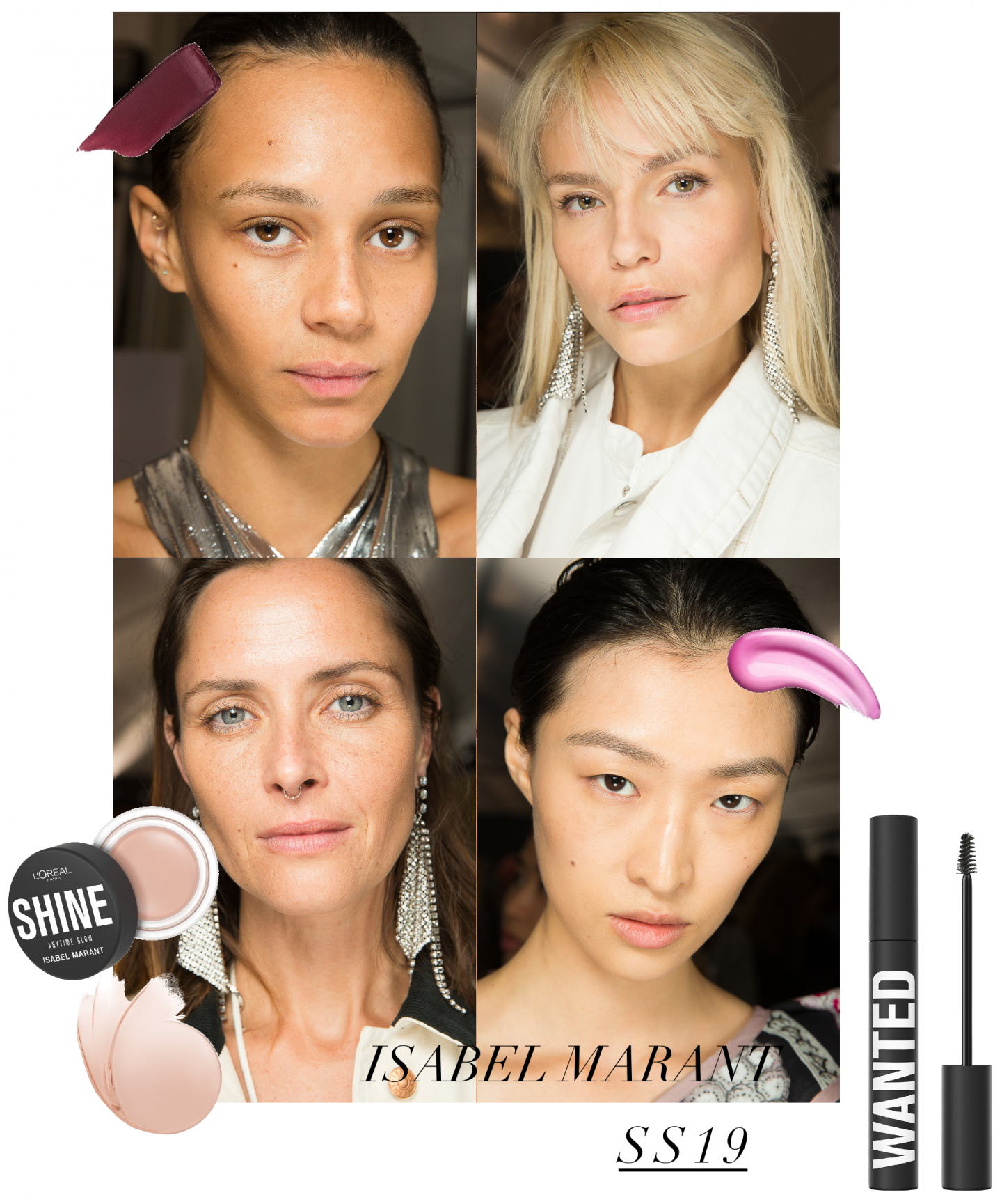 isabel marant loreal paris backstage ss19 beauty lisforlois