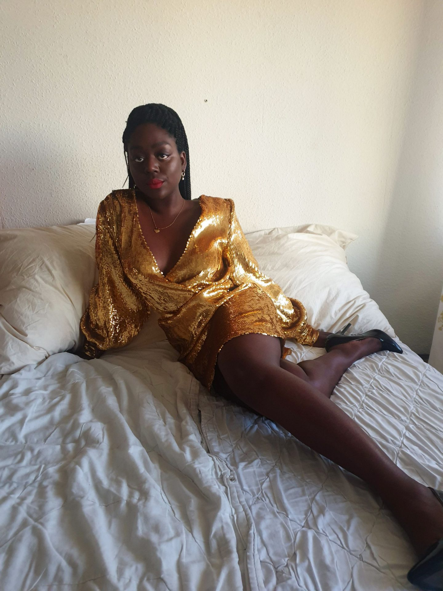 Lois Opoku sequin dress new Years Party looks