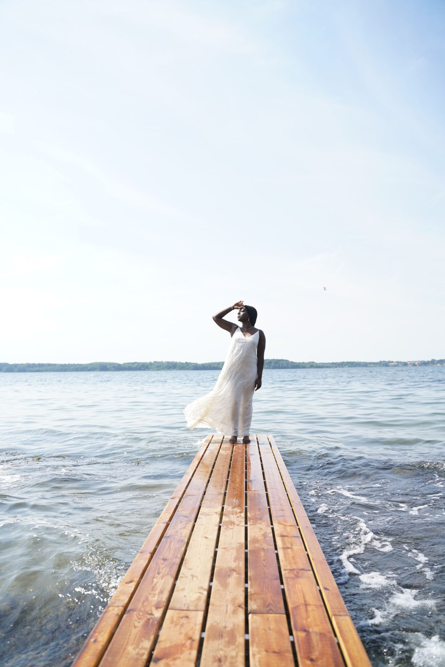 Lois Opoku wearing Lala Berlin white dress 9